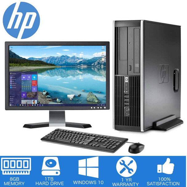 "HP Desktop Deal, 8GB Memory with 1TB Hard Drive. Desktop Sale with 17"" LCD"