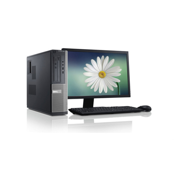 "Dell PC Computer 7010 Desktop CORE i5 4GB 250GB HD Windows 10 w/ 19"" LCD"