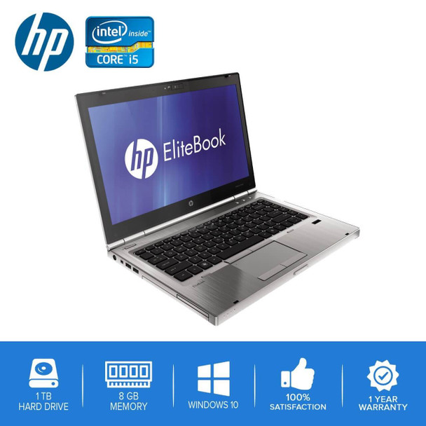 HP-Elitebook 8460p Laptop Notebook – Intel Core i5 - 8GB – 1TB Hard Drive - Windows 10