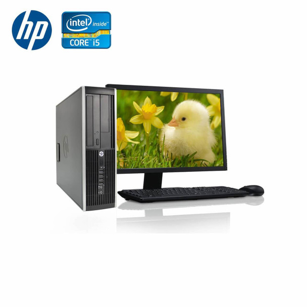 "HP-Elite Desktop 8200 Computer PC – Intel Core i5 - 8GB Memory – 500GB Hard Drive - Windows 10 with 19"" LCD"