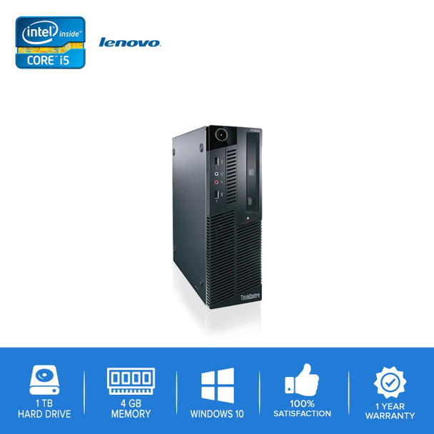 Lenovo-ThinkCentre M90 M91 Desktop Computer PC – Intel Core i5- 4GB Memory – 1TB Hard Drive - Windows 10
