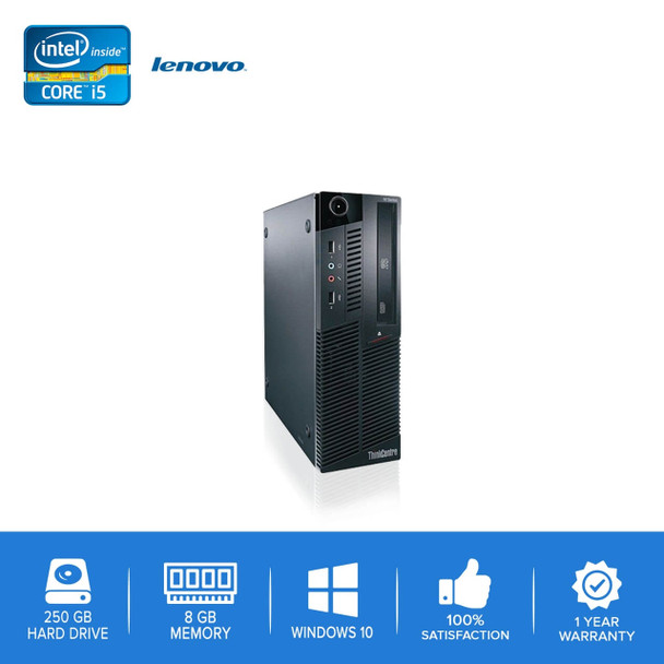 Lenovo-ThinkCentre M90 M91 Desktop Computer PC – Intel Core i5- 8GB Memory – 250GB Hard Drive - Windows 10