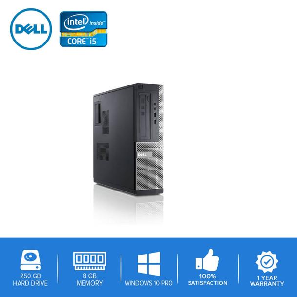 Dell PC Computer Desktop CORE i5 3.0GHz 8GB 250GB HD Windows 10