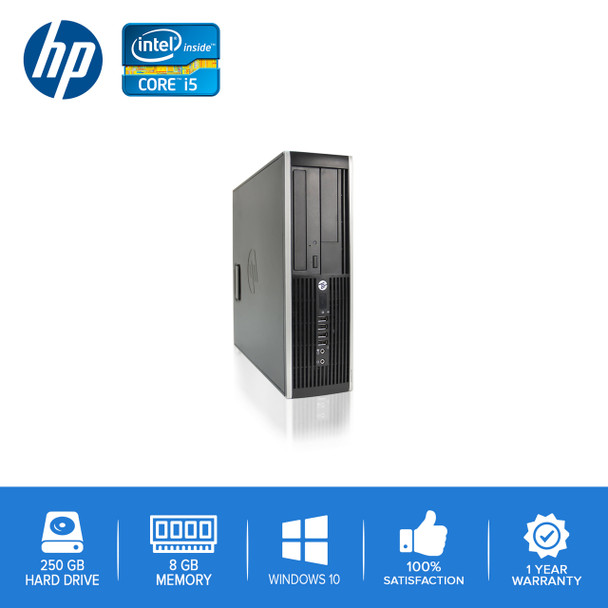 Refurbished HP-Elite Desktop 8100 8200 Computer PC – Intel Core i5 - 8GB – 250GB Hard Drive - Windows 10