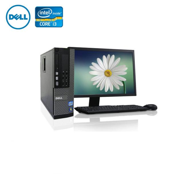"""Dell PC Computer Desktop CORE i3 3.0GHz 4GB 250GB HD Windows 10 w/ 19"""" LCD"""