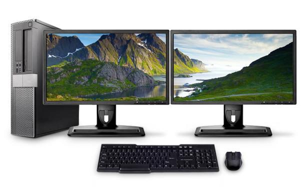 Dell PC Computer Desktop CORE i3 3.0GHz 8GB 1TB HD Windows 10 W/Dual 19