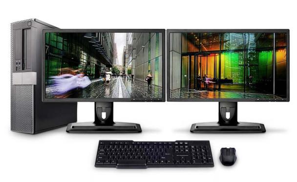 Dell PC Computer Desktop CORE i5 3.0GHz 4GB 250GB HD Windows 10 W/Dual 19
