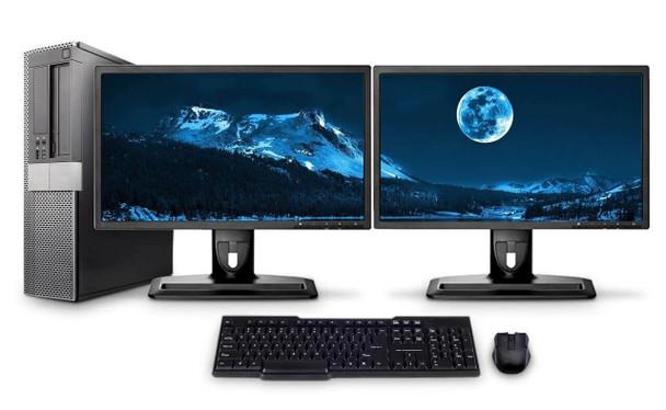 Dell PC Computer Desktop CORE i5 3.0GHz 4GB 1TB HD Windows 10 W/Dual 19 DDi54G1TGBW1019