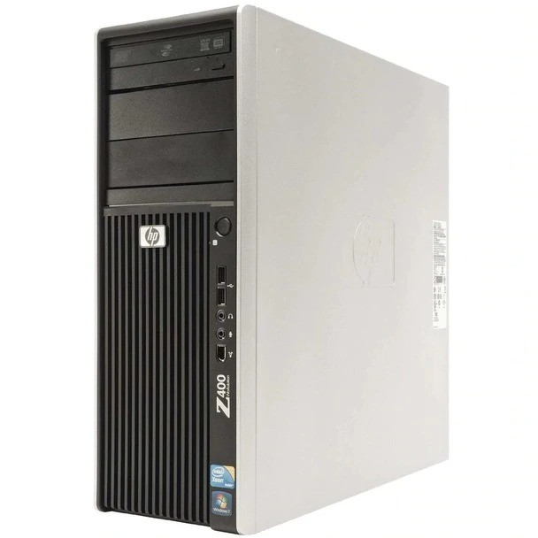 HP -Z400 Workstation Desktop PC - Intel Xeon 3.20 - 12GB Memory - 2x 500GB Hard Drive - Windows 10