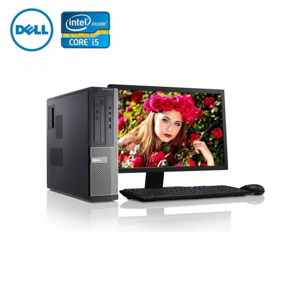 """980-Dell PC Computer Desktop CORE i5 3.0GHz 8GB 2TB HD Windows 10 w/ 22"""" LCD"""