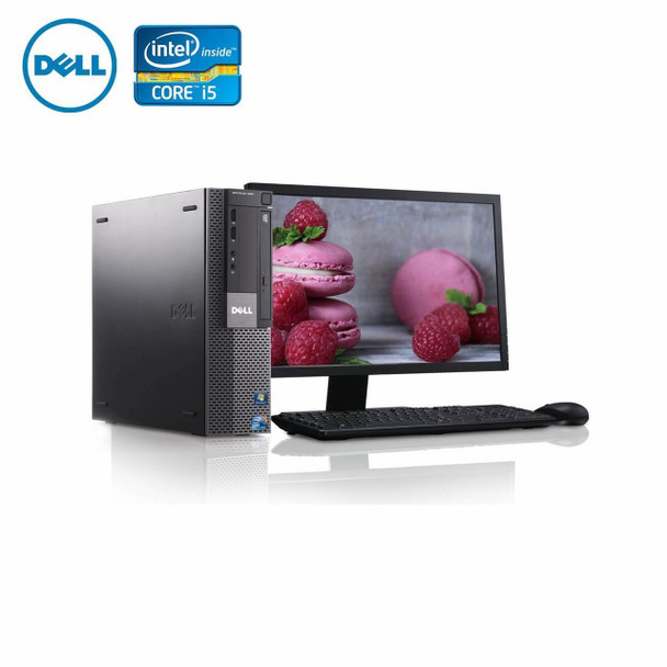 "980-Dell PC Computer Desktop CORE i5 3.0GHz 4GB 250GB HD Windows 10 w/ 19"" LCD"