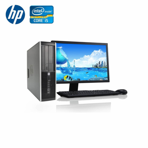 "HP-Elite Desktop 8300 Computer PC – Intel Core i5 - 4GB Memory – 250GB Hard Drive - Windows 10 with 22"" LCD"