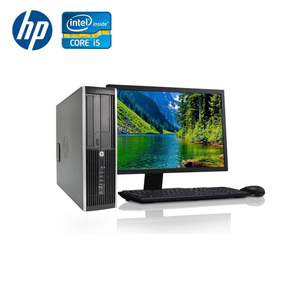"HP-Elite Desktop 8300 Computer PC – Intel Core i5 - 8GB Memory – 250GB Hard Drive - Windows 10 with 19"" LCD"