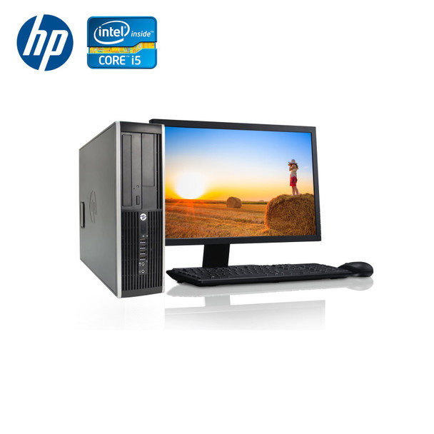 "HP-Elite Desktop 8300 Computer PC – Intel Core i5 - 4GB Memory – 500GB Hard Drive - Windows 10 with 22"" LCD"