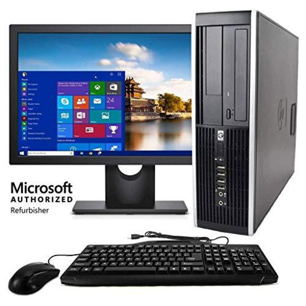 """HP Desktop Core 2 Duo 2.6GHz - New 4GB Memory - 500GB HDD - Windows 10 Home Edition - 19"""" Generic Monitor, NEW Keyboard, Mouse, Speakers, WiFi Sold (Renewed)"""