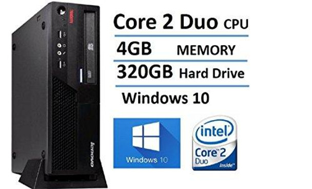 Lenovo ThinkCentre M58 Small Form Factor Business Desktop Computer, Intel Core 2 Duo 3.0GHz Processor, 4GB RAM, 320GB HDD, DVD, Gigabit Ethernet, VGA, Windows 10 Home (Renewed)