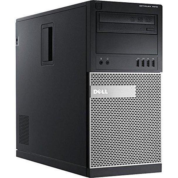 Dell OptiPlex 7010 Minitower Desktop PC - Intel Core i5-3470, 3.2GHz, 8GB, 1TB, DVD, Windows 10 Professional