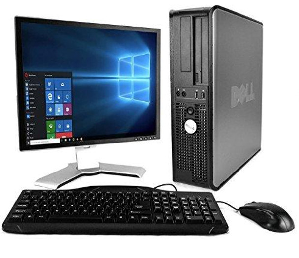 Dell Optiplex with 20-Inch Monitor (Core 2 Duo 3.0Ghz, 8GB RAM, 1TB HDD, Windows 10 Professional), Black (Renewed)