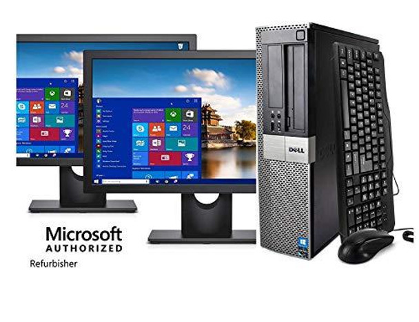 Dell Optiplex 790 Core i5 3.1GHz, 1TB Hard Drive, 16GB Memory, Windows 10 x64, Dual 19 Monitors