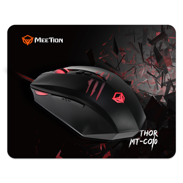 MEETION Gaming Backlit Mouse and Smooth Non Slip Mouse Pad Combo MT-CO10