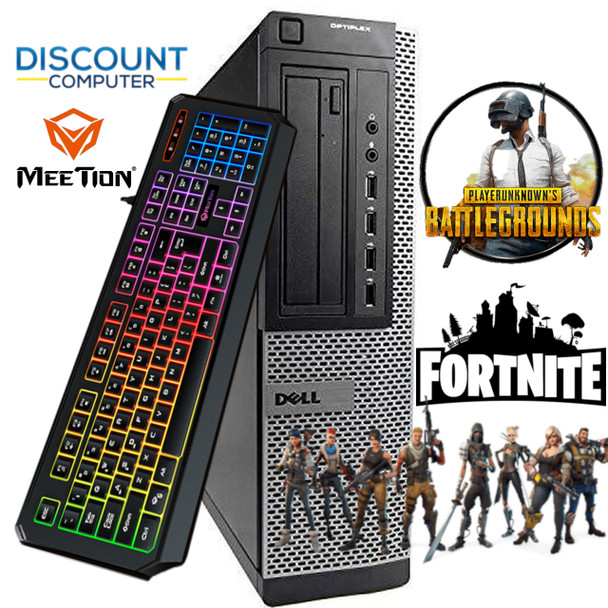 Gaming Desktop PC 500GB Nvidia GT 1030 HDMI 3.2Ghz 16GB RAM WiFi Win 10 Computer