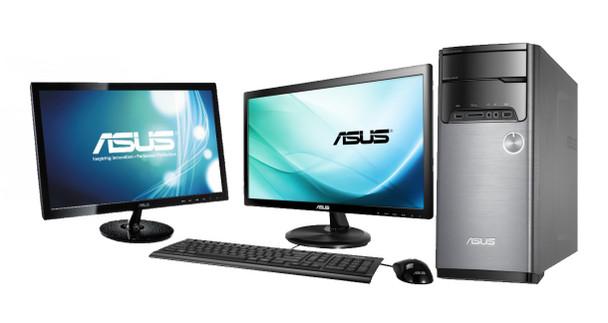 "ASUS Full Dual Monitor Desktop Setup - Intel Up to Quad Core 8GB RAM 1TB Hard Drive Desktop - Dual 22"" ASUS Monitors with Dual Monitor Stand"