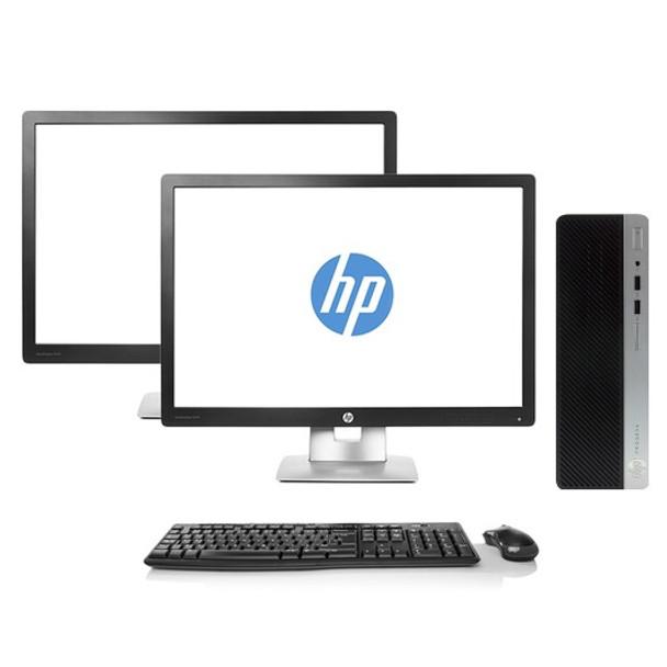 "HP Dual Monitor 6th Gen Desktop Full Setup - Intel Core i5 16GB RAM 1TB HDD Windows 10 - 24"" HP Monitors"