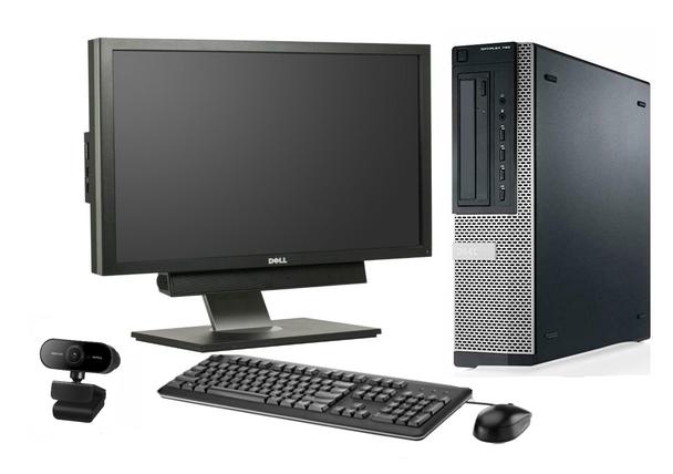 "Powerful Full Office Desktop Setup -  Home Office/Video Conferencing/Zoom - Intel Windows 10 Webcam Speakers - 19"" Monitor"