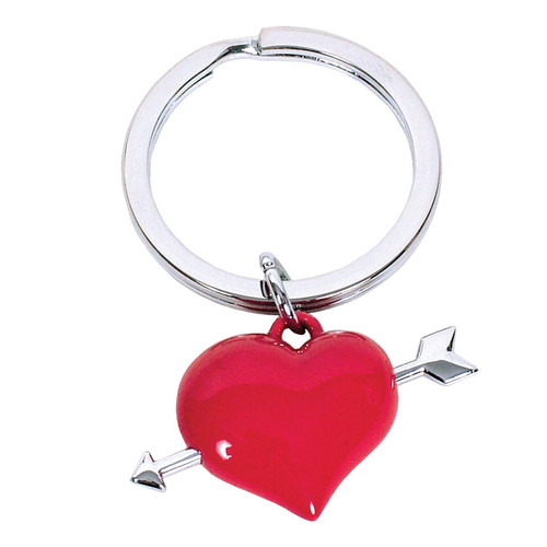 Red Heart with Arrows Keyring