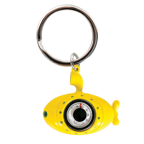 Yellow Submarine with Thermometer Keyring