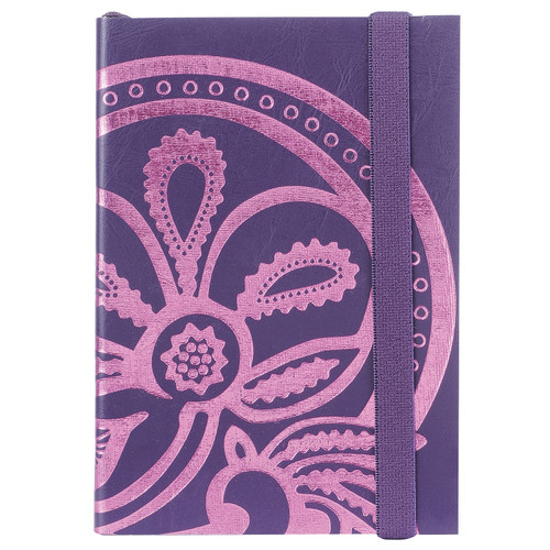 Liberty Tanjore Lotus A6 Embossed Notebook