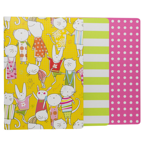 Animal Playdate A5 Cahier (Set of 3)