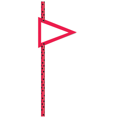 Red with Black Dots 19cm Straws [24pcs]