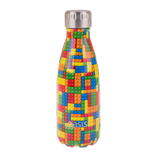 Double Wall Drink Bottle 350ml Patterned