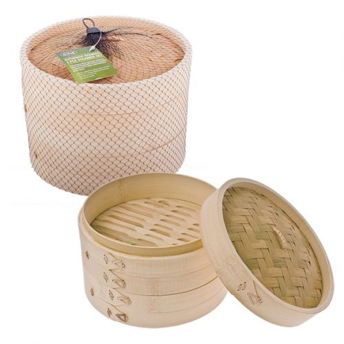 Authentic Bamboo 3 Piece Steamer Set