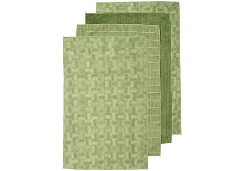 Benson Microfibre Towels 4pk Olive Green