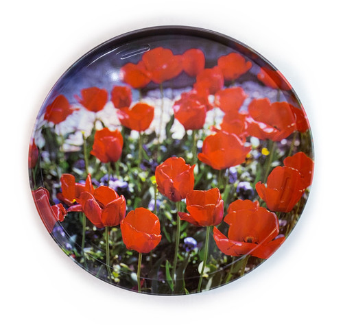 Flower, Metal Tray, Assorted