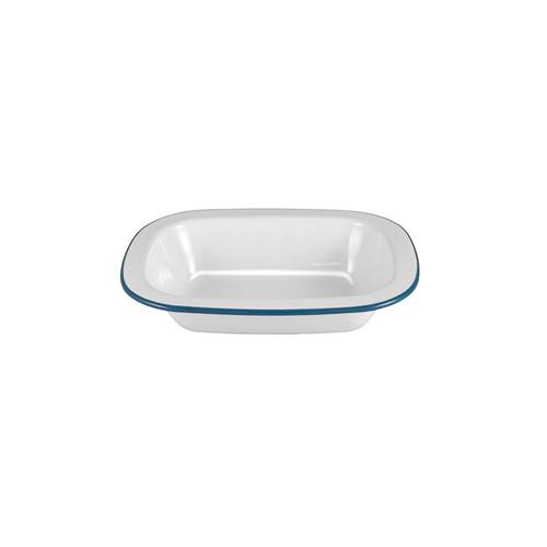 Enamel Pie Dish, White
