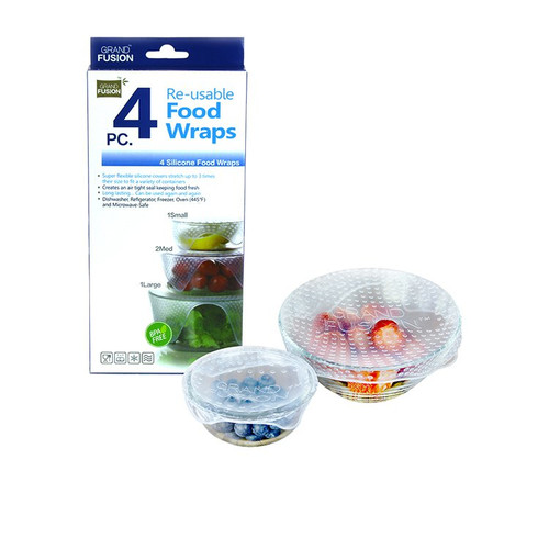 Reusable Food Wraps 4 Pack