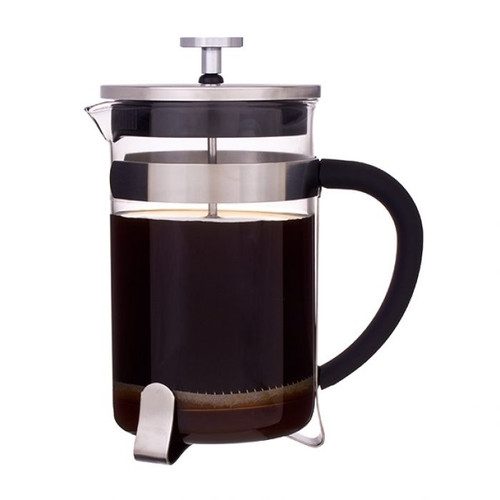 Coffee Plunger Glass Stainless Steel Frame