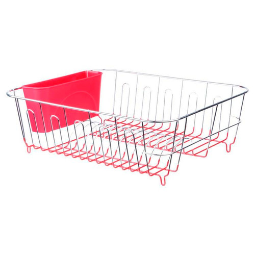 Dish Drainer / Rack, Chrome with Caddy
