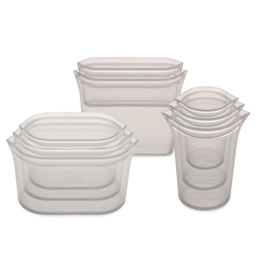 Zip Top, 3 Cups, 3 Dishes, 2 Bags, Full 8 Set