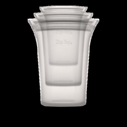 Zip Top, Cup Set Grey, Set of 3
