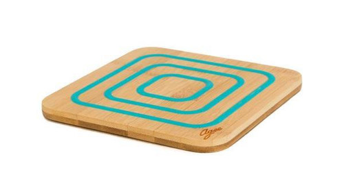 Bamboo Trivet With Silicone
