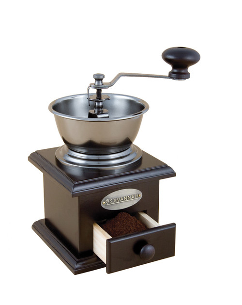 Coffee Grinder Manual Classic.  Adjustable grind setting from fine for stove top espresso to course for plunger or filter coffee.  Removable drawer