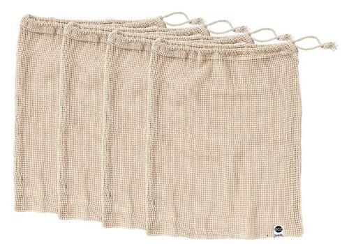 Eco Recycled Cotton, Mesh Produce Bag, Set 4