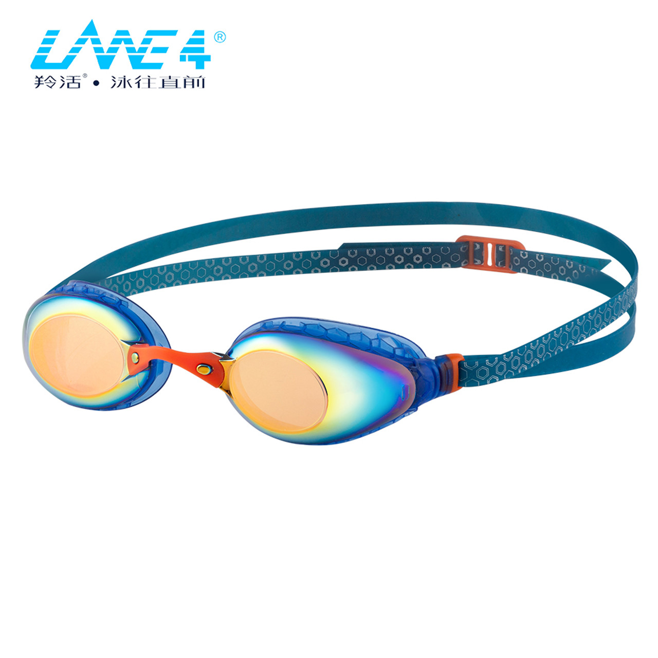 1041fcfd6cb LANE4 Racing Swim Goggle A935 - Hive-structured Gaskets Mirror Lenses Anti-fog  UV