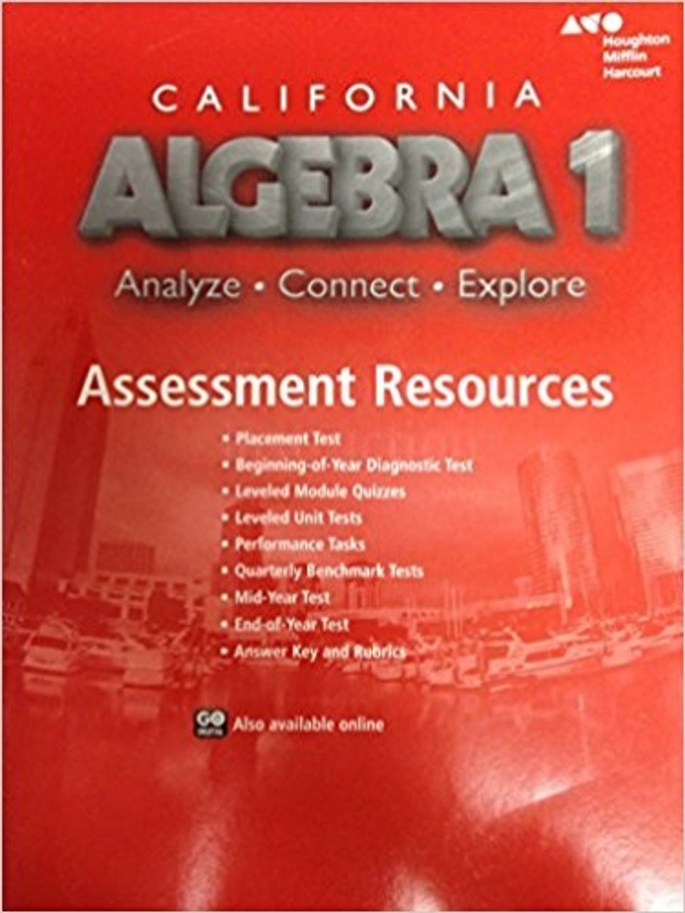 HMH California Algebra 1 Assessment Resource with Answers (ACE)