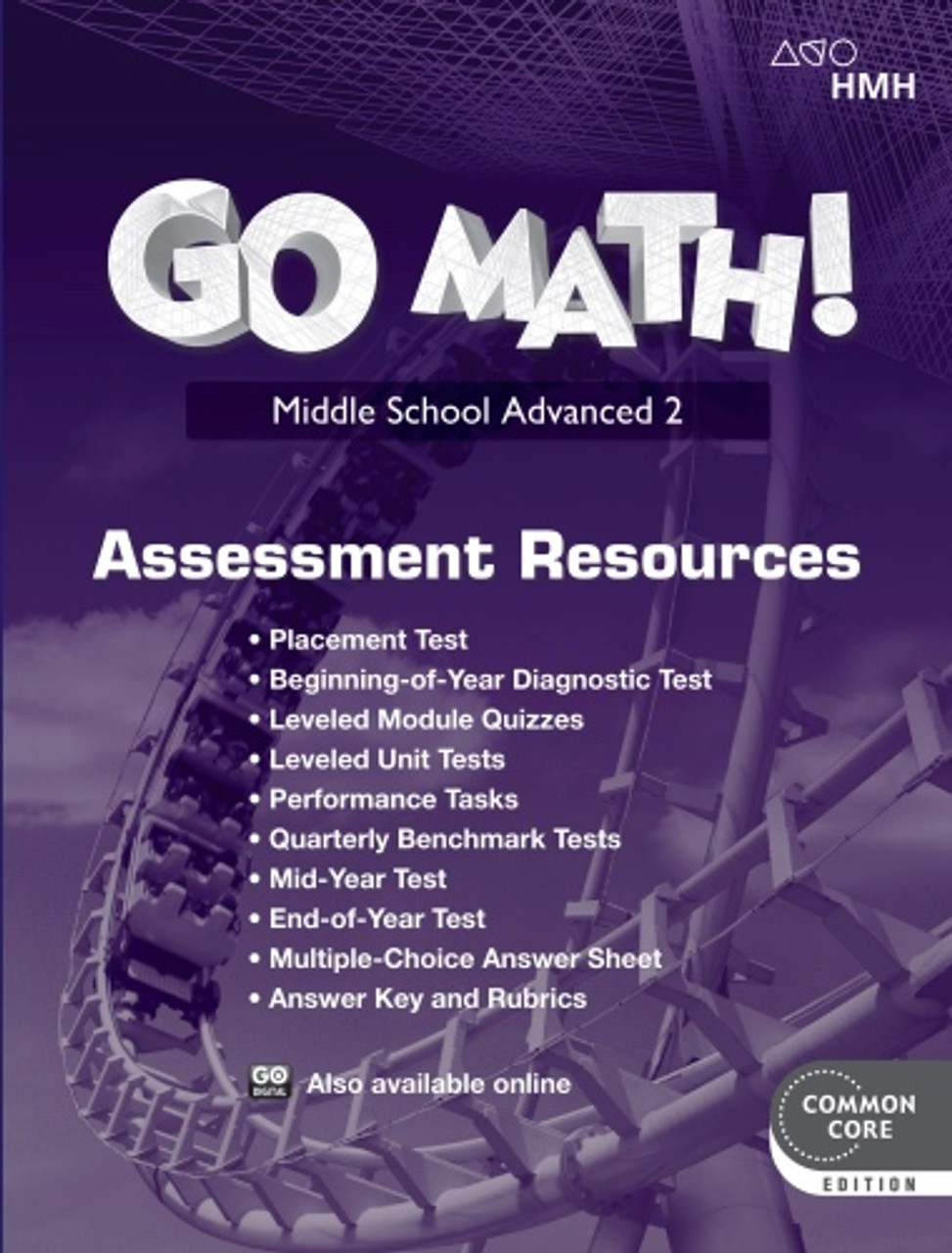 Go Math Advanced 2 Assessment Resource with Answers (2018)