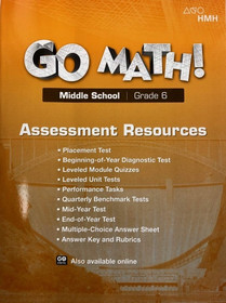 Go Math Texas Assessment Resource with Answers Grade 6